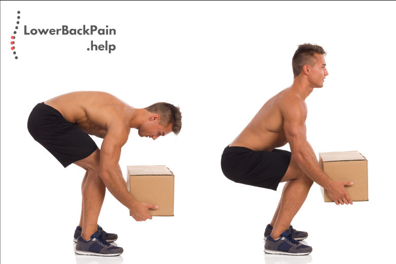 Incorrect And Correct Posture While Lifting Weight