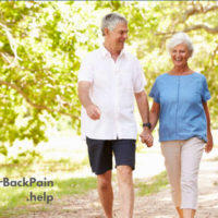 Walking with lower back pain